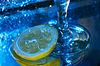 Kieliszek wina i cytryna | Stock Foto