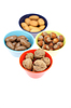 Nuts in bowls | Stock Foto