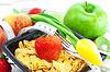 Truskawka, brzoskwinia, jabłko, kiwi, tulipany, pomiarowego | Stock Foto