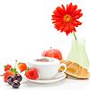Cappuccino in der Tasse in Form von | Stock Foto