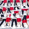 Collage Paar tanzt Tango in den Straßen von Bueno | Stock Foto