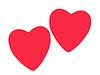 ID 3552918 | Dwie czerwone serce miłość | Foto stockowe wysokiej rozdzielczości | KLIPARTO