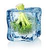 Broccoli in Eis | Stock Foto