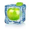 Ice cube and apple | Stock Foto