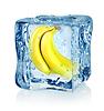 Ice Cube und Banane | Stock Foto