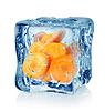 Ice Cube und Karotten | Stock Foto