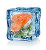 Ice Cube und Fisch mit Petersilie | Stock Foto