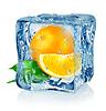 Ice Cube und orange | Stock Foto