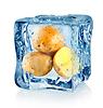 Ice Cube und Kartoffeln | Stock Foto