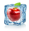 Ice Cube und roten Apfel | Stock Foto