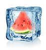 Ice Cube und Wassermelone | Stock Foto