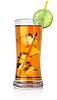 琥珀大玻璃的鸡尾酒 | 免版税照片