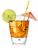 琥珀色玻璃的鸡尾酒 | 免版税照片