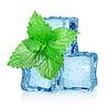 ID 3556355 | Drei Eiswürfel und Minze | Foto mit hoher Auflösung | CLIPARTO