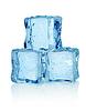 Drei Eiswürfel | Stock Foto