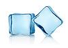 Zwei Eiswürfel | Stock Foto