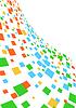 Abstrakten Hintergrund mit quadratischen | Stock Vektrografik
