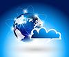 Hintergrund mit glboe und Cloud