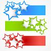 Set von Bannern mit Sternen | Stock Vektrografik