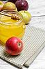 Äpfel und Honig | Stock Foto