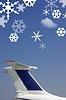Flugzeug mit Schneeflocken | Stock Foto