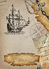 Old pirate map | Stock Illustration