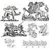 ID 3599660 | Dragon set illustration | Stockowa ilustracja wysokiej rozdzielczości | KLIPARTO