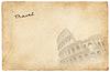 罗马视图明信片的 | 光栅插图