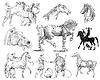 ID 3670336 | Küchenhelfer - Kritzeleien Sammlung | Illustration mit hoher Auflösung | CLIPARTO