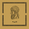 ID 3675093 | Plato, the famous, classical Greek philosopher | 高分辨率插图 | CLIPARTO