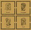 ID 3675094 | Famous Greek philosophers | Stockowa ilustracja wysokiej rozdzielczości | KLIPARTO
