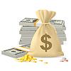 Stosy pieniędzy | Stock Vector Graphics