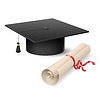 Graduation cap and diploma | Stock Vektrografik