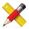 Bleistift, Lineal