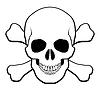 두개골과 대퇴골 | Stock Vector Graphics