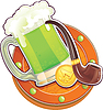 St.Patrick `s Day Symbol. Green Beer