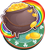 Pot of Gold am St. Patrick `s Day