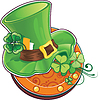 ID 3573361 | Symbol von St. Patricks Day. Hut von Leprechaun | Stock Vektorgrafik | CLIPARTO