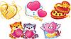 Set romantische Symbole für Valentin `s Day