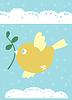 kleine Vogel ist ein Symbol des Frühlings, Leben und Liebe