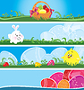 Easter multicolor banners | Stock Vector Graphics