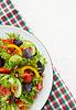 신선한 혼합 된 야채 샐러드 | Stock Foto