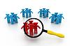 ID 3621179 | Concept of searching people or employee | Stockowa ilustracja wysokiej rozdzielczości | KLIPARTO