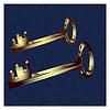 두 개의 키가 t에 그려진 | Stock Illustration