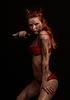 ID 3605748 | Ciemny czerwony diabeł dziewczyna z nożem | Foto stockowe wysokiej rozdzielczości | KLIPARTO