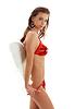 ID 3606298 | Dziewczyna w czerwonej bieliźnie z anielskimi skrzydłami | Foto stockowe wysokiej rozdzielczości | KLIPARTO