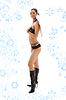 ID 3616307 | Schwarzen Dessous Engel in Lederstiefel mit | Foto mit hoher Auflösung | CLIPARTO