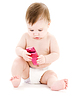 Baby mit Handy | Stock Foto