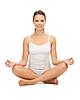 ID 3648578 | Frau praktizieren Yoga Lotussitz | Foto mit hoher Auflösung | CLIPARTO