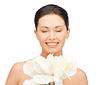 ID 3653696 | Piękne kobiety z orchid kwiat | Foto stockowe wysokiej rozdzielczości | KLIPARTO